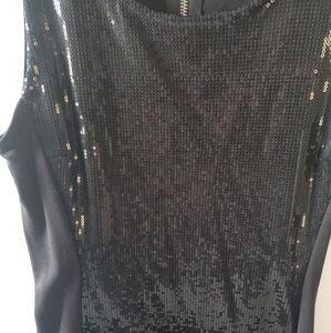 H&M Dresses - H&M Sleeveless Black Sequin Dress